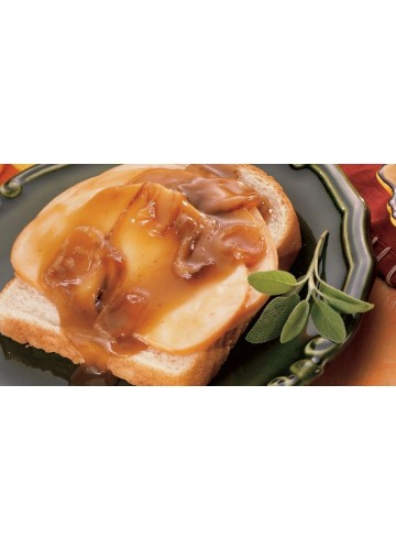Open Face roasted Turkey over White Bread, Meal package