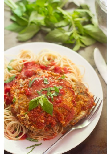Eggplant Parmesean with Spaghetti, Meal Package